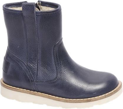Bobbi-Shoes Premium - Donkerblauwe leren enkellaars
