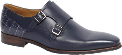 Borelli Blauwe geklede schoen leer