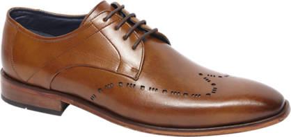 Borelli Cognac geklede schoen leer