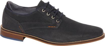 Borelli Donkerblauwe geklede veter schoen van leer
