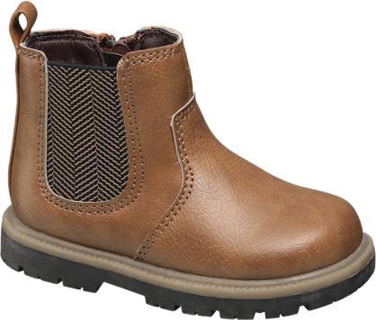 Bobbi-Shoes Toddler Boy Herringbone Detail Chelsea Boot