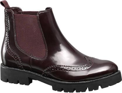 Catwalk Burgundi színű chelsea boot