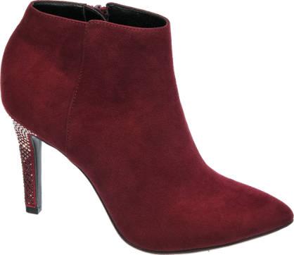 Catwalk Embellished Heel Ankle Boots