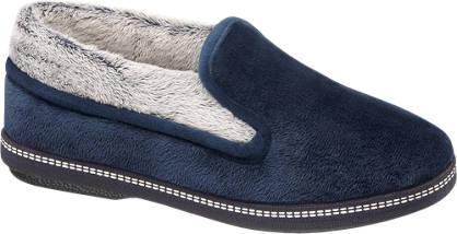Casa mia Blauwe pantoffel warmgevoerd
