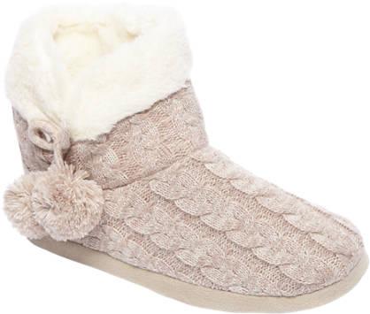 Casa mia Roze pantoffel pompons