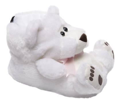 Casa mia Witte beren pantoffel