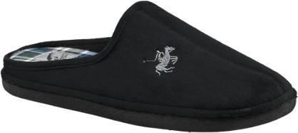 Casa mia Zwarte pantoffel polo logo