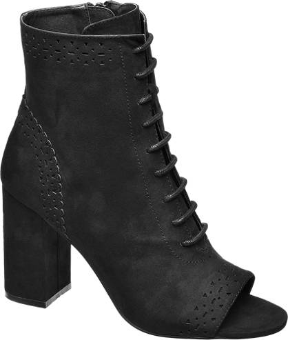 Catwalk Lace-up Open Toe Ankle Boots
