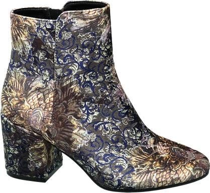Catwalk Pattern Heeled Boot
