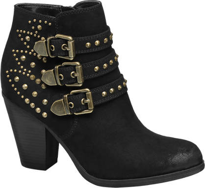 Catwalk Studs & Buckles Ankle Boots