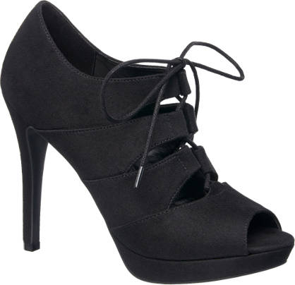 Catwalk Lace-up Peep-Toe High Fronts