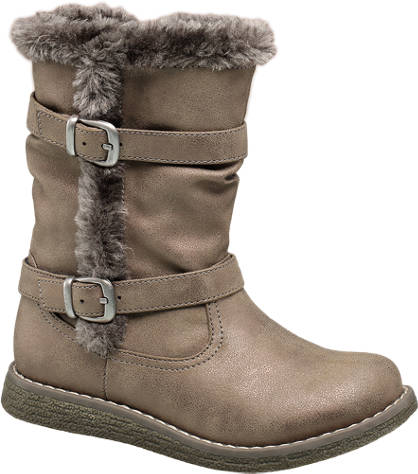 Cupcake Couture Fur Trim Boot