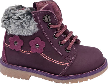 Cupcake Couture Leather Fur Trim Boot