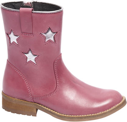 Cupcake Couture Roze leren enkellaars zilveren sterren