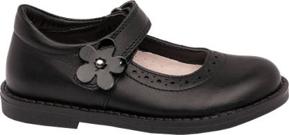 Cupcake Couture Toddler Girl Flower Detail Leather Bar Shoes