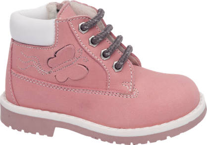 Cupcake Couture Toddler Girl Leather Lace-up Ankle Boots
