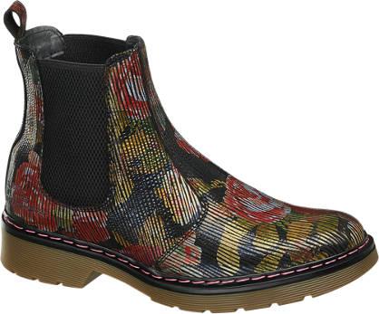 Catwalk Chelsea Boots mit Flower-Prints