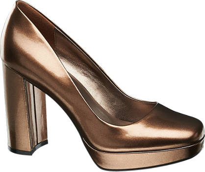 Catwalk High Heels im Metallic-Design