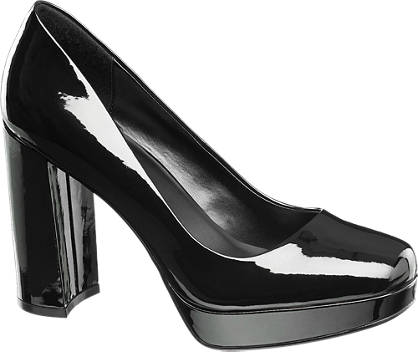 Catwalk High Heels in Lack-Optik