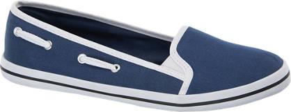 Blue Fin Leinen Ballerinas
