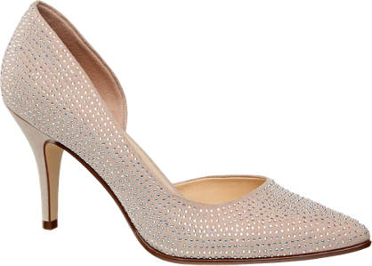 Catwalk Pumps mit Strass-Besatz