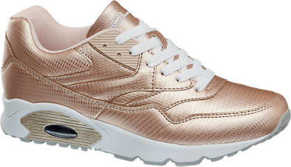 Graceland Retro Sneakers in Metallic-Optik