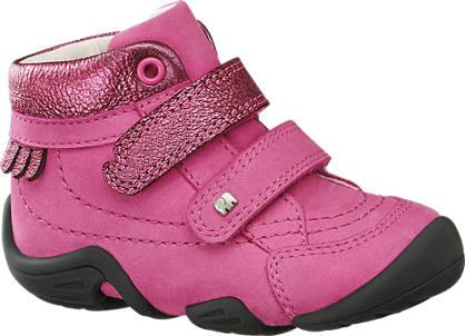 Elefanten Roze  leren boot klittenband