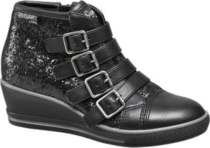 Disney Violetta Fekete flitteres telitalpú cipő