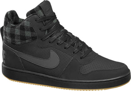 NIKE Fekete magasszárú NIKE COURT BOROUGH MID cipő