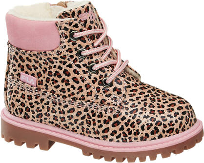 Fila Leopard Printed Ankle Boot