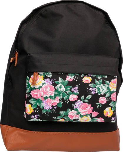 Floral Pocket Backpack