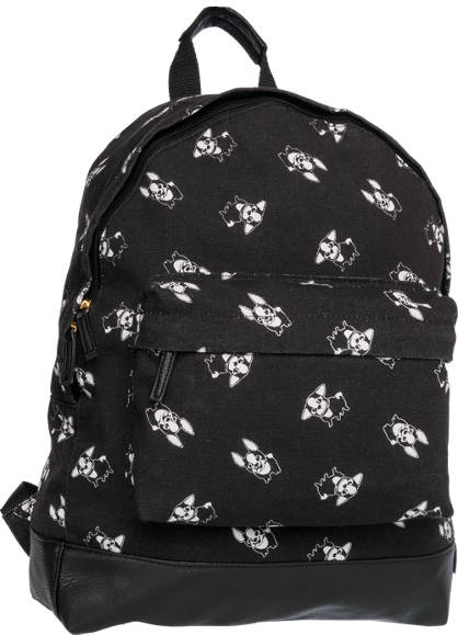 French Bulldog Print Backpack
