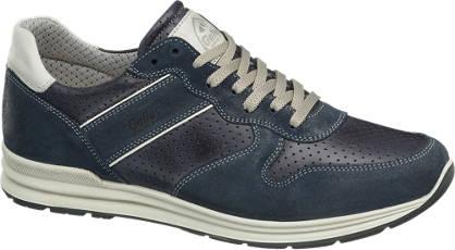 Gallus Blauwe leren sneaker perforatie