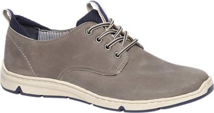 Gallus Grijze leren comfort sneaker