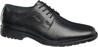 Gallus Zwarte leren schoen