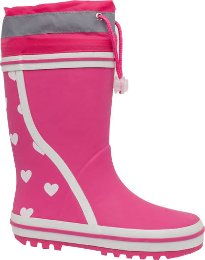Reflective Heart Print Welly