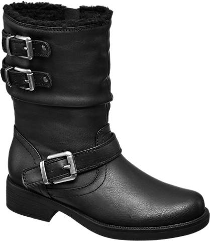 AGAXY Three Buckle Boot