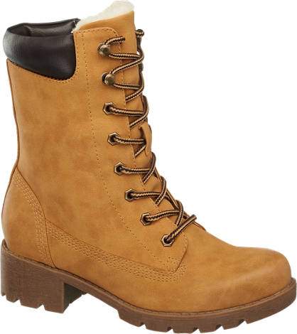 AGAXY Lace Up Mid Calf Boot