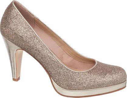 Graceland Glitter Court Shoes