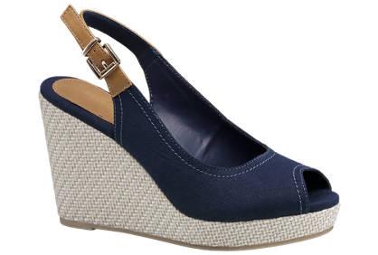 Graceland Blauwe sandaal sleehak