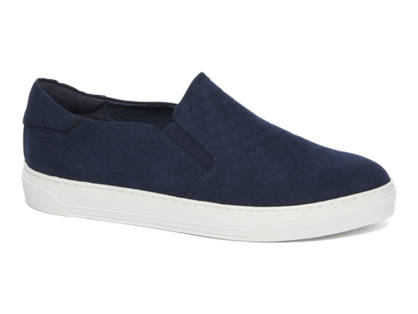 Graceland Blauwe slip-On slangenprint