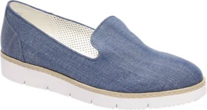 Graceland Blauwe slip-on denim look