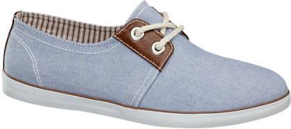 Graceland Blauwe sneaker canvas