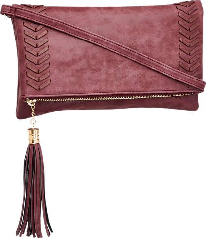 Graceland Bordeaux kleurige clutch