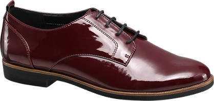 Graceland Bordeaux veterschoen dandy look