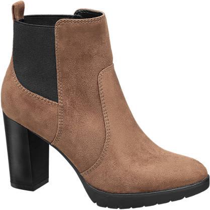 Graceland Bruine chelsea boot plateauzool