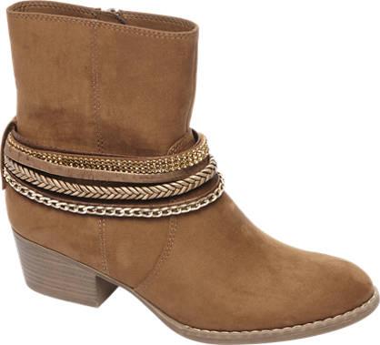 Graceland Bruine western boot sierbandjes