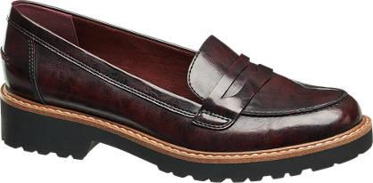 Graceland Donkerrode loafer grove zool