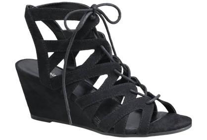 Graceland Ghillie Tie Wedge Sandals