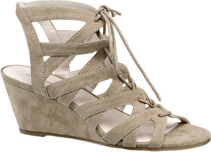 Graceland Ghillie Tie Wedge Sandals